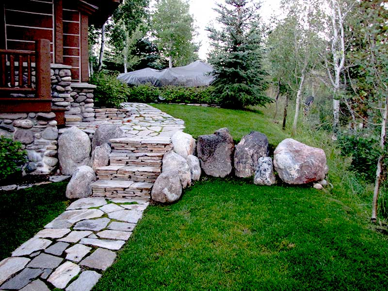 Stone Paving pathway - Paving Stone Landscape Design - South Park Landscaping